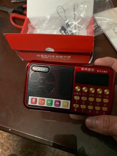 纽曼老人收音机 老年人便携随身听播放器 半导体收音机 充电插卡迷你小音箱mp3 校园广播四六级锂电音响L56红 晒单图