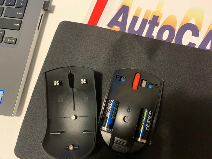 联想(Lenovo)经典小黑无线鼠标 笔记本台式机一体机企业办公家用百搭通用鼠标 有线蓝光版 晒单图