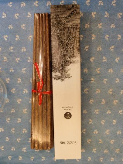 双枪(Suncha) 双枪鸡翅木筷子 实木 筷子套装无漆无蜡10双装礼品筷礼盒装筷子木质 金鱼雕刻版10双装 晒单图
