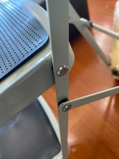 奥鹏五步家用梯 加厚折叠梯子单侧工程梯伸缩人字梯 白灰色 AP-1265 晒单图