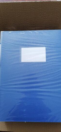 得力(deli)12只55mm睿商系列加厚塑料档案盒 A4资料文件盒 财务凭证收纳盒 办公用品5606蓝色 晒单图