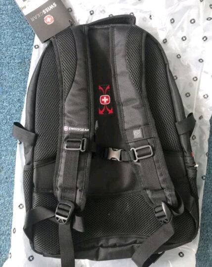 SWISSGEAR电脑包  瑞士双肩包 男士背包14.6-15英寸笔记本包出差旅行包SA-9393III黑色学生书包 晒单图