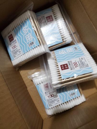 尚岛宜家 木棉签 棉棒200头装 美容化妆 耳鼻清洁 100只 晒单图