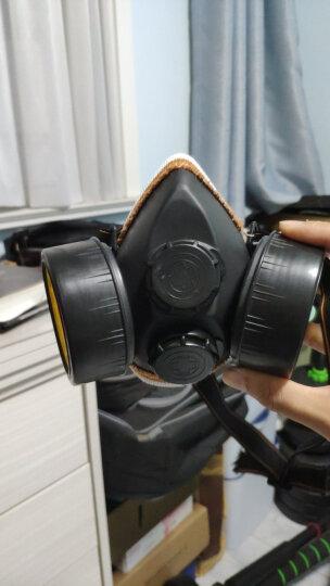 【春节不打烊】成楷科技 防毒面具口罩 活性炭面罩 防护 喷漆 气体 放毒气甲醛带阀 黑色防毒面罩+舒适护目镜型 晒单图
