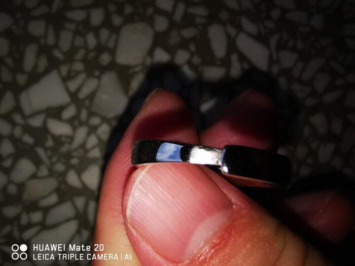 十六月缘 情侣戒指 925银一对开口刻字925银结婚对戒 情人礼物个性时尚银饰光圈戒指 光圈对戒 免费刻字(商家配送) 晒单图