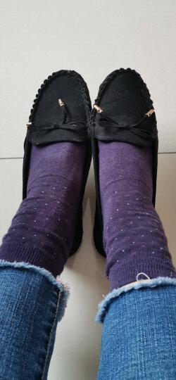 老北京布鞋女鞋豆豆鞋平底蝴蝶结单鞋百搭黑色工作鞋女休闲鞋妈妈鞋 黑色 37 晒单图