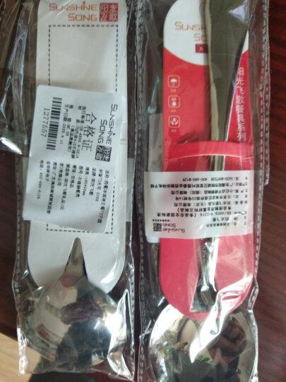 阳光飞歌 不锈钢餐具 西餐主餐勺子圆形饭勺大号 0768 晒单图