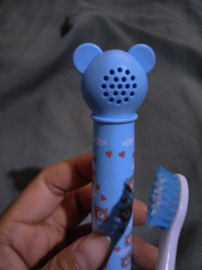 易简(yijan)婴儿童宝宝牙刷 电动牙刷 防水 音乐幼儿牙刷 K2 晒单图