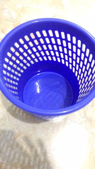 天章办公(TANGO)垃圾桶塑料实色办公垃圾篓纸篓/办公室厨房卫生间客厅塑料垃圾桶/255mm直径蓝色 办公用品 晒单图