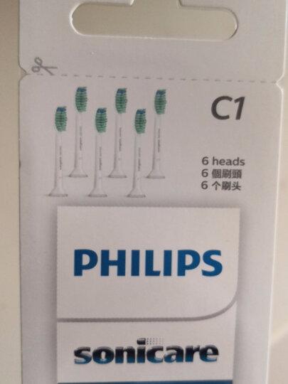 飞利浦(PHILIPS) 电动牙刷头 基础洁净 6支装HX6016适配HX6730/6511/3216/6972 晒单图