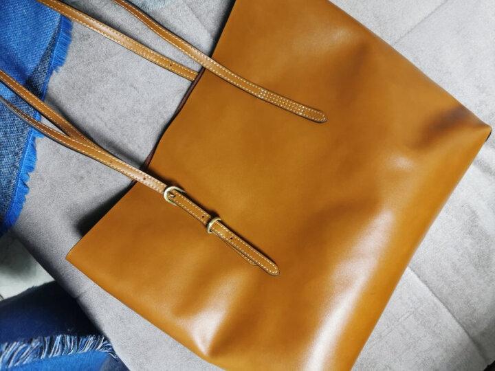 山水集包包女新款秋冬流行大容量纯色托特包时尚简约轻奢百搭单肩手提女士包S-013 科罗拉多棕 晒单图