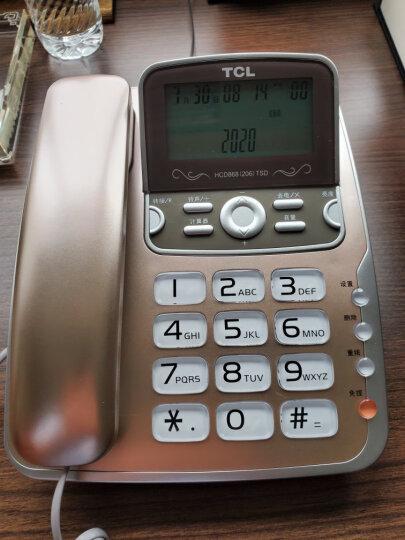 TCL 电话机座机 固定电话 办公家用 免电池 屏幕可抬 大按键 HCD868(206)TSD (红色) 晒单图