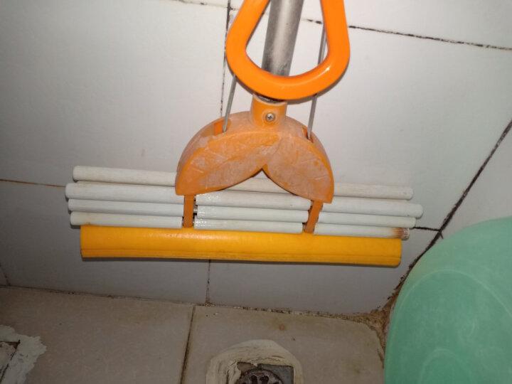 太太乐 小号28cm 中号33 大号38cm拖把头 对折滚轮 滚轮挤水海绵拖把头 胶棉头替换 中号33厘米  橘色 晒单图