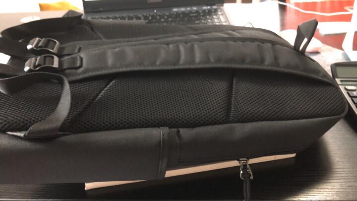 SWISSGEAR电脑双肩包男 防泼水商务款15.6英寸双肩笔记本电脑包 男学生书包背包 SA-0077黑色 晒单图
