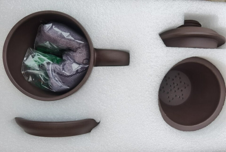 鲍鼎泰 紫砂杯茶具紫砂壶陶瓷茶杯飘逸杯套装带过滤内胆全手工杯子大容量品茗主人杯 男 和气(娇贵的朱泥) 晒单图