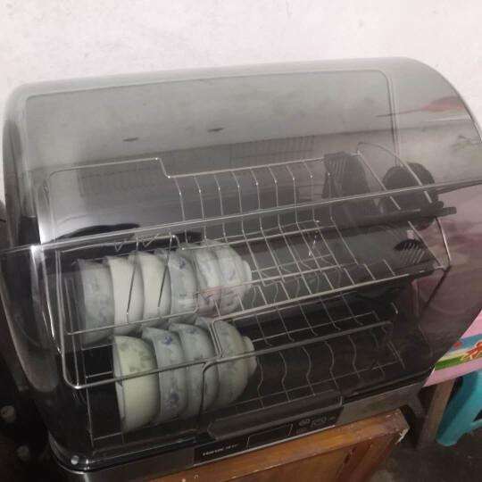 韩加(Hanze)消毒柜家用小型台式消毒碗柜立式保洁柜紫外线负离子婴儿用迷你型中温厨房 45L数显陶瓷白+紫外线+负离子 晒单图