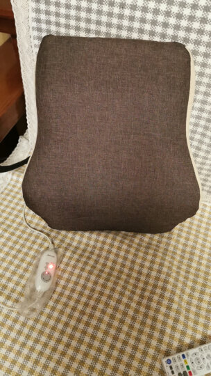 昕科护腰靠垫办公室腰枕座椅靠垫靠枕记忆棉孕妇电热靠背 腰靠坐垫套装-咖色 晒单图