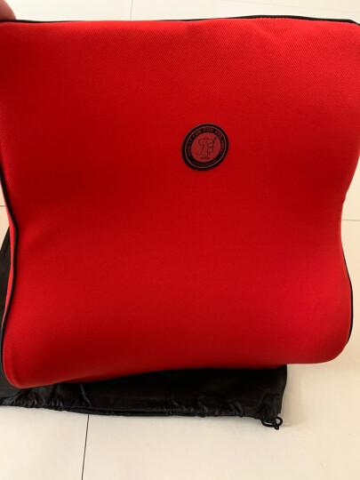 吉吉(GiGi)汽车腰靠 G-1110太空记忆棉靠枕 背靠垫 车用办公用腰枕红色 晒单图