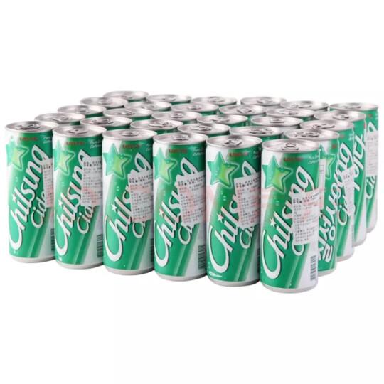 韩国原装进口 乐天(Lotte) 七星冰柠檬味碳酸饮料250ml*30罐 整箱 晒单图