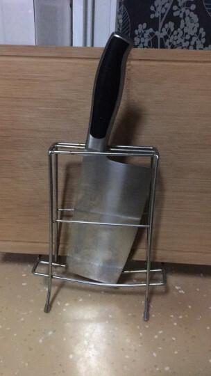 十八子作刀具 厨房不锈钢家用切肉切菜刀黑狐切片刀S2703-B(含刀架) 晒单图