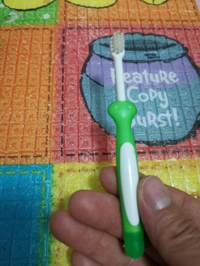 贝亲 (Pigeon) 牙刷 婴儿牙刷 婴儿训练牙刷 儿童牙刷 柔软刷毛 3阶段训练牙刷 绿色+黄色  1-3岁 进口 10852 晒单图