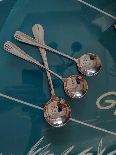 阳光飞歌 不锈钢餐具 西餐冰淇淋主餐勺子咖啡勺圆形饭勺中号 0775 晒单图