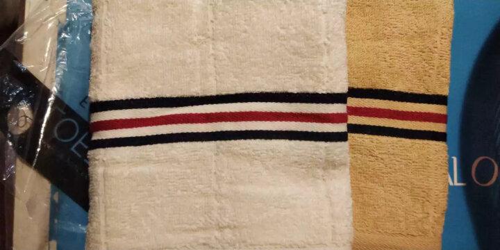 亚光 毛巾 纯棉色织吸水毛巾 全棉柔软擦脸巾 洁面巾 自由维度 2条装 灰/棕 32*72cm/条 晒单图