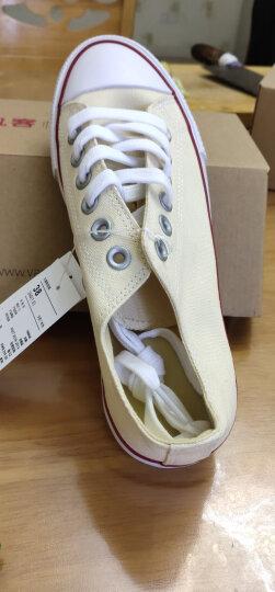 凡客诚品VANCL帆布鞋低帮女款百搭时尚运动板鞋韩版潮流 红色 38 晒单图