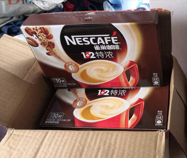 雀巢(Nestle)咖啡 速溶 1+2特浓 微研磨 冲调饮品 30条390g 蔡徐坤同款(新老包装交替发货) 晒单图