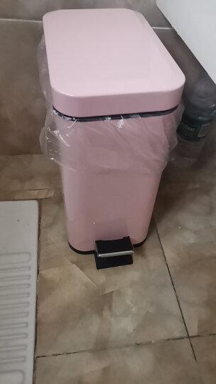 Snughome不锈钢垃圾桶长方形家用脚踏式带盖大号厨房卫生间客厅办公室厕所双层 5L 公主粉 晒单图