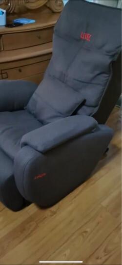 久工(LITEC)按摩椅家用 多功能零重力太空舱电动按摩椅3D机械手全自动按摩沙发 白色皮革 晒单图
