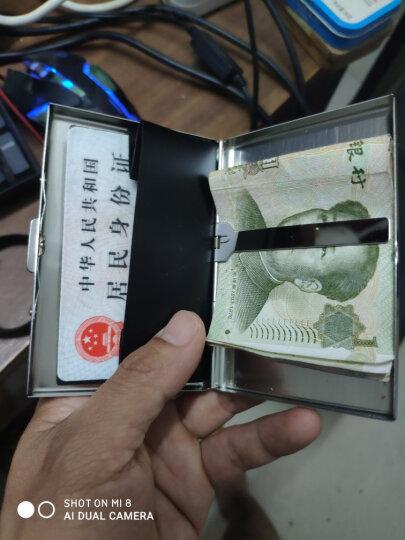花间集 名片盒 对开式金属名片夹PU面 七夕商务礼品 雅黑色 晒单图