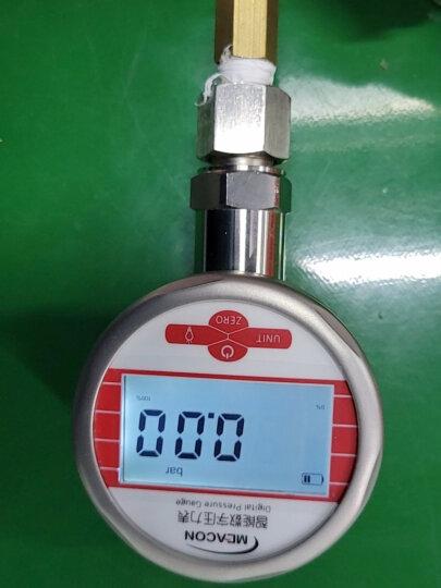 美控 压力表2.5 不锈钢数显压力表数字耐震气压水压油压液压负压真空0-1.6MPa精密压力表 【60mm小表盘】0-0.6Mpa 晒单图
