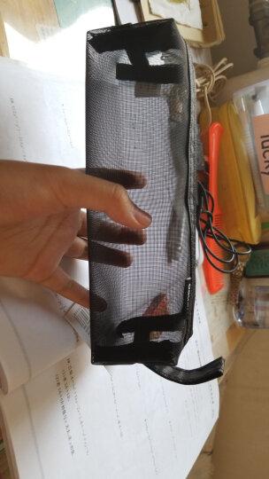 得力(deli)大容量方型笔袋/尼龙网纱包袋/手提铅笔收纳袋 冰蓝66747 晒单图