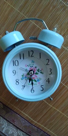 TIMESS闹钟 静音时尚学生床头钟个性创意夜光灯打铃钟可爱儿童石英钟P-203粉色 晒单图