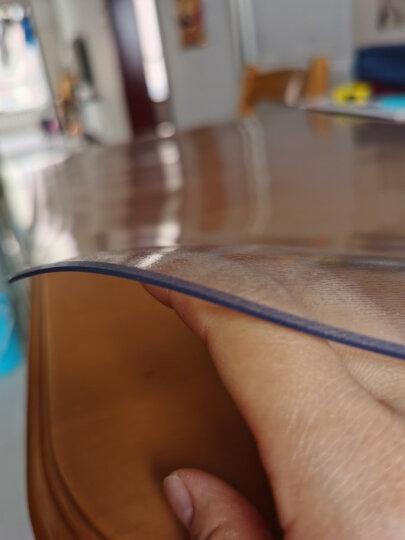 钟爱一生桌布防水桌垫餐桌布软玻璃透明茶几垫无味台布磨砂PVC塑料水晶板书桌垫防油圆桌布定制尺寸 无味透明2.0mm 60*120cm耐高温加厚防烫 晒单图