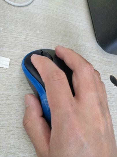 罗技(Logitech)M185(M186) 鼠标 无线鼠标 办公鼠标 对称鼠标 黑色红边 带无线2.4G接收器 晒单图