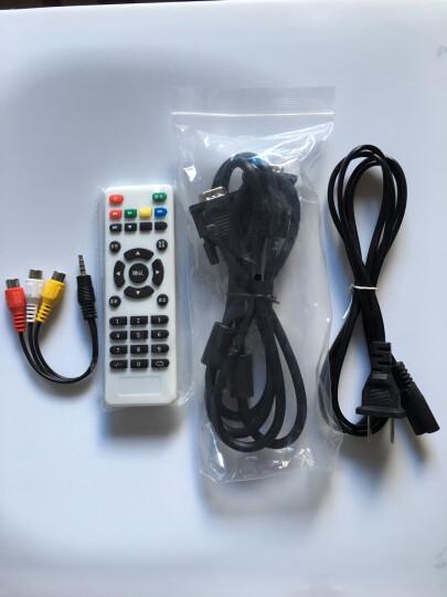 Rigal 瑞格尔投影机 家庭影院WiFi手机无线蓝牙投影仪办公 家用HDMI高清接口 U盘直读 标配版无wifi无手机同屏 白色810 晒单图