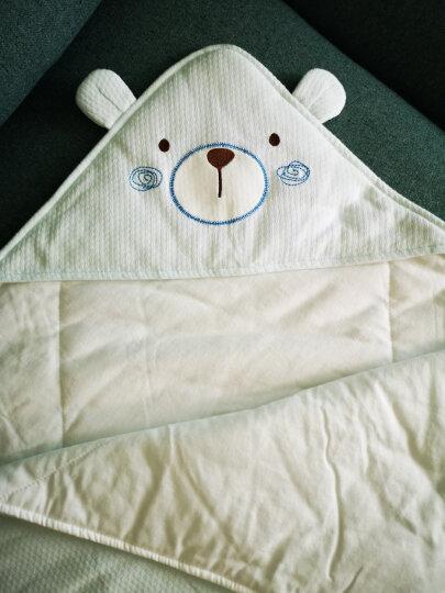 全棉时代 婴儿睡袋婴儿抱被儿童春夏宝宝纯棉针织包被 90*90cm 1件装 粉蓝卡通木马 晒单图