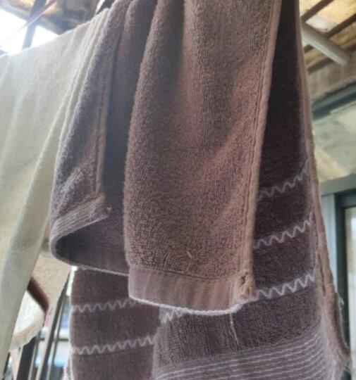 九洲鹿 毛巾家居 2条装 全棉舒适吸水加大面巾加厚款 情侣毛巾 成人洗脸面巾擦脸巾 33*74cm 晒单图