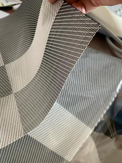 宝优妮 餐垫 厨房PVC隔热垫 防滑餐桌垫餐厅防烫西餐垫 放餐具垫4片装 斜纹图案 晒单图