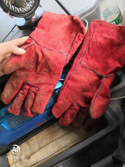 代尔塔 电焊工防护手套 牛皮焊接劳保 隔热耐磨防火阻燃  防金属溅射 205515 红色 10# 晒单图