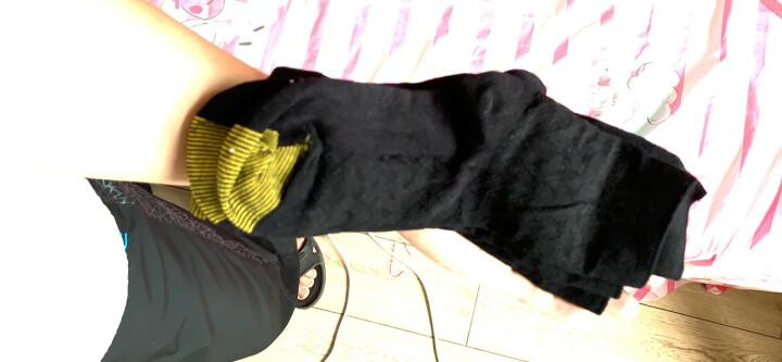 宜帛棉品袜子男士竹纤维袜子中筒男袜吸汗秋冬商务不臭脚男袜礼盒5双装 五双全黑色 晒单图