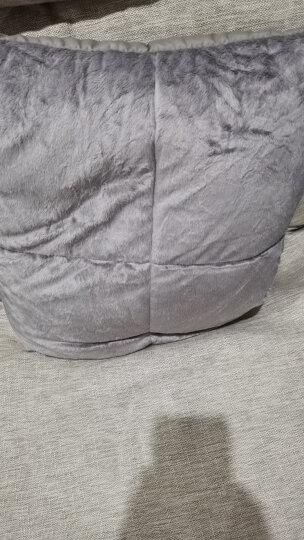 斯诺曼(snowman)床品家纺 抱枕被子 两用靠垫 办公室沙发汽车靠枕 床头靠背靠垫腰枕 紫罗兰 110*140cm 晒单图