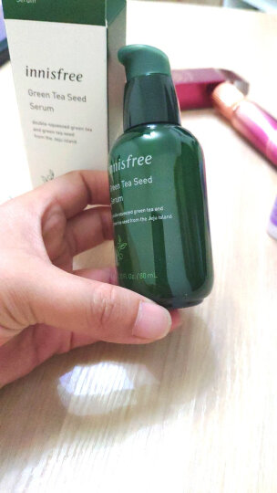 韩国进口 悦诗风吟 Innisfree 绿茶籽精华水分菁露小绿瓶 80ml/瓶 精华液补水保湿滋润 晒单图