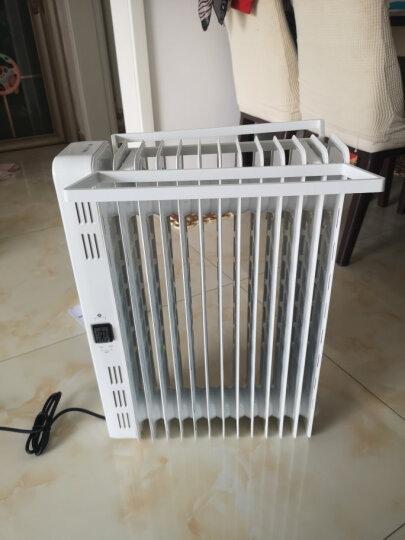 美的(Midea)取暖器/电暖器/电暖气片家用 节能省电 静音加湿烘衣 13片大面积劲暖电热油汀NY2513-16JW 晒单图