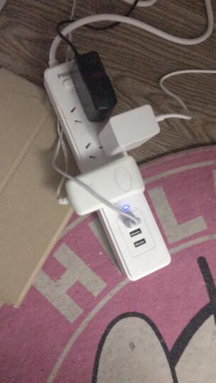 飞利浦(PHILIPS)新国标USB智能插座 3USB+4孔位 2.4A快充 1.8米 插线板/插排/排插/接线板/拖线板 晒单图