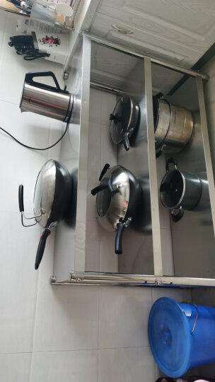 微波炉架厨房置物架 厨房收纳架锅架货架家用落地不锈钢架子 5层 长150宽30高180CM五层不锈钢货架 晒单图