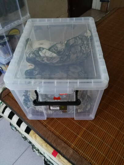 禧天龙 加厚直角收纳箱 儿童玩具整理箱 衣物被子储物箱 抗压搬家打包箱 透明 43升1个装 晒单图