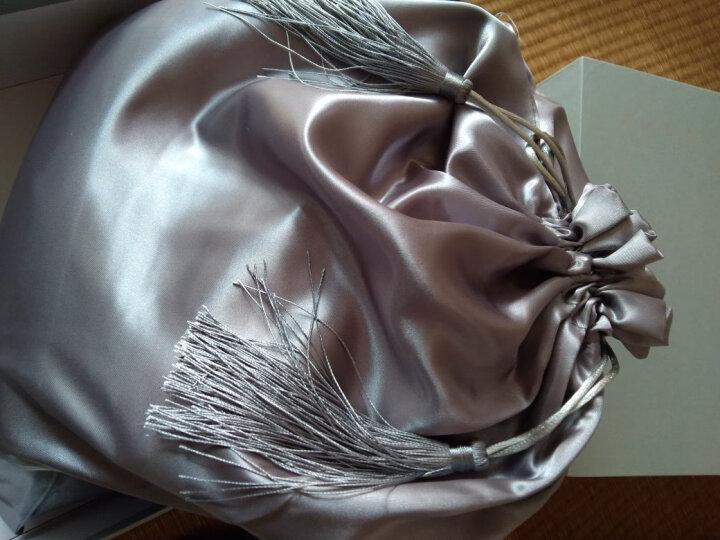 枕水人家真丝四件套 100%桑蚕丝 婚庆套件 床上用品 丝绸被套 双面真丝 田园芳草 200X230(CM) 晒单图